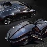 Bugatti Veyron Sang Noir et Bugatti 57SC Atlantic