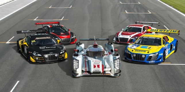 Les 5 Audi victorieuses en endurance en 2012