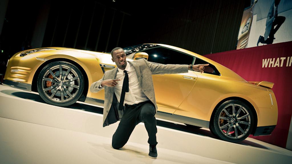 """Nissan GT-R """"Gold"""" d'Usain Bolt"""