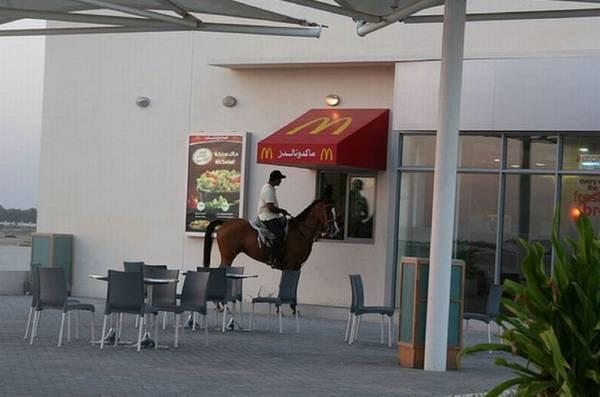 McDrive en cheval