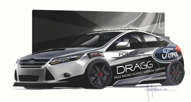Ford Focus SEMA concepts Drag Racing Against Gangs & Graffiti (DRAGG)