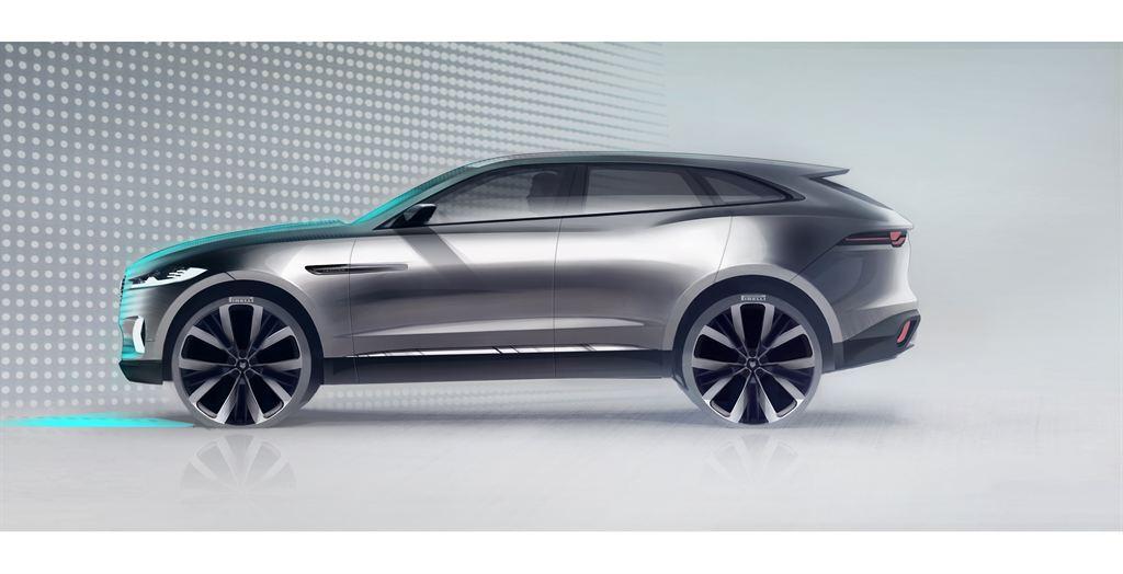 Jaguar Frankfurt C-X17 Sketch Image