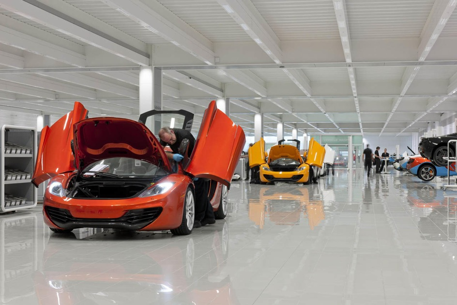 mclaren production usine
