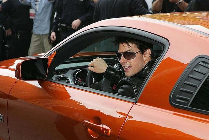 Tom Cruise en mustang