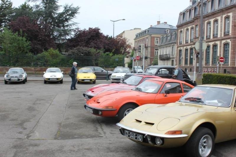 une vingtaine d'Opel Gt pour cet événement