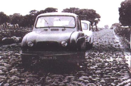 Içi, le proto N°44 devant une réserve indienne du Minnesota en Janvier 1961