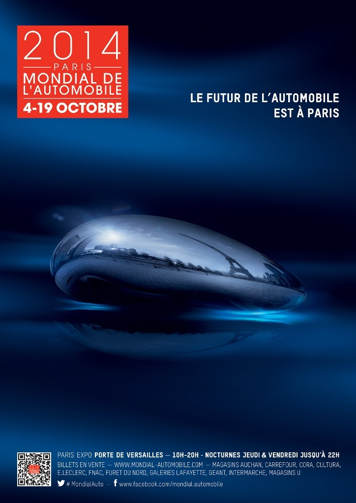 Affiche Mondial Automobile Paris 2014