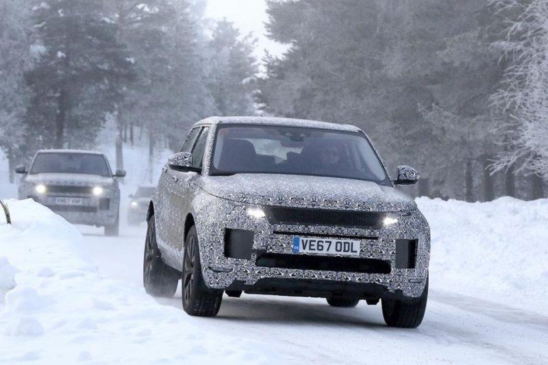 La face anvant du Range Rover Evoque nouvelle génération