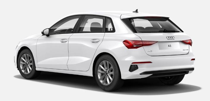 Nouvelle Audi A3 Sportback vue arrière