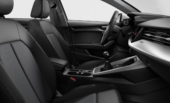Intérieur nouvelle Audi A3 Sportback vue siège passager