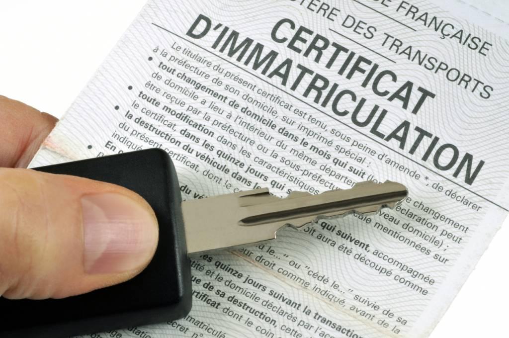 certificat d'immatriculation carte grise démarche